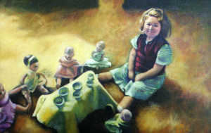 TeaParty_oil, by artist Rosemarie Robuck