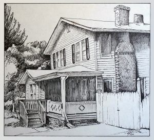 """12/99 Asheville, NC Pencil & Pen and Ink 9""""x7.5"""""""