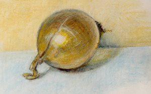 "Pastel on watercolor paper 2015 12""x9"" Asheville, NC"