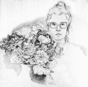 """Pencil Drawing, -24""""x18"""" - May 8, 1979, Houston,TX"""