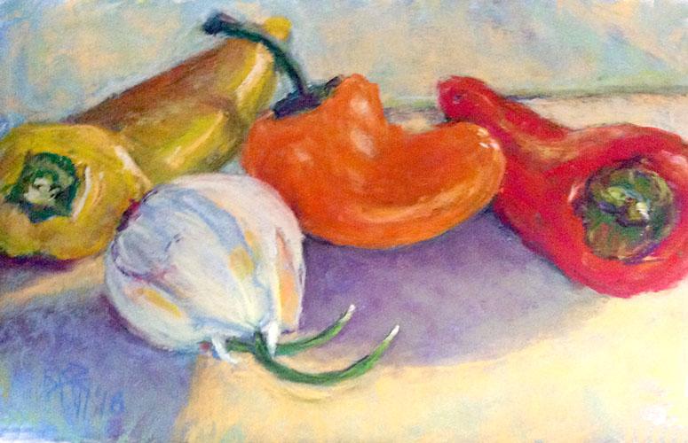 Garlic Among the Peppers