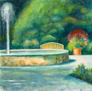"Watercolor 9/16 11""x11"" Arboriumn, Blue Ridge near Ashville, NC"
