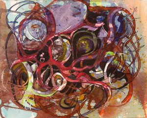 "Watercolor on WC paper, 2016 Ashevillem, NC 5.5""x7"""