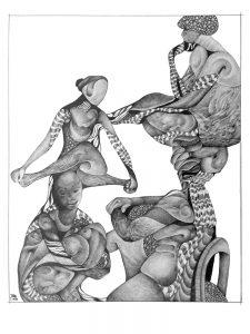 metanoia series abstract entitled elasticity artist Rosemarie K. Robuck