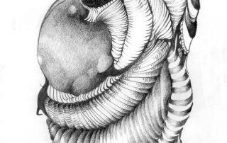 metanoia series abstract entitled escarpment artist Rosemarie K. Robuck