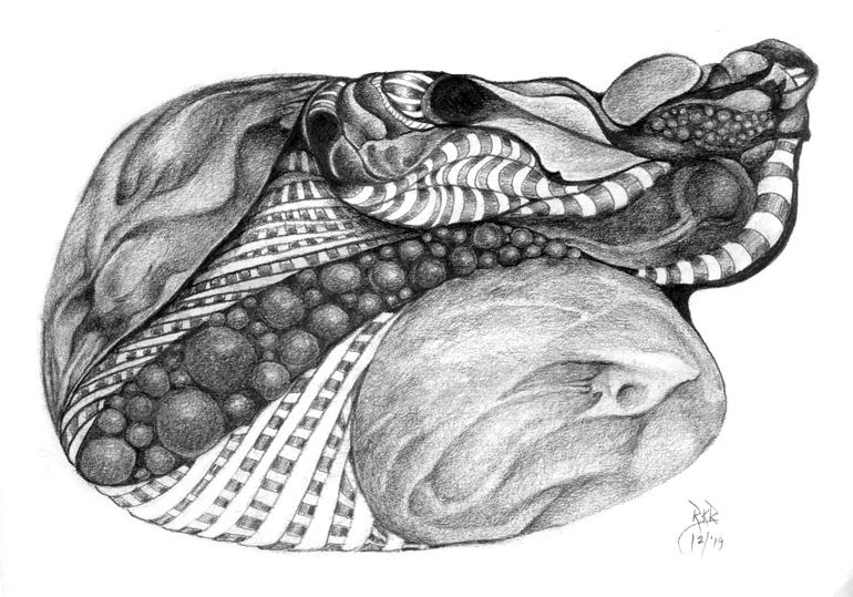 metanoia series abstract entitled hokem artist Rosemarie K. Robuck