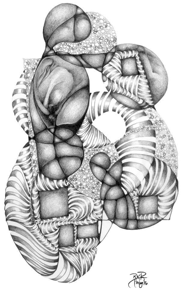 metanoia series abstract entitled arabesque I artist Rosemarie K. Robuck